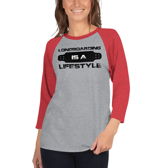 Longboarding (Lifestyle) Women's 3/4 Sleeved T-Shirt