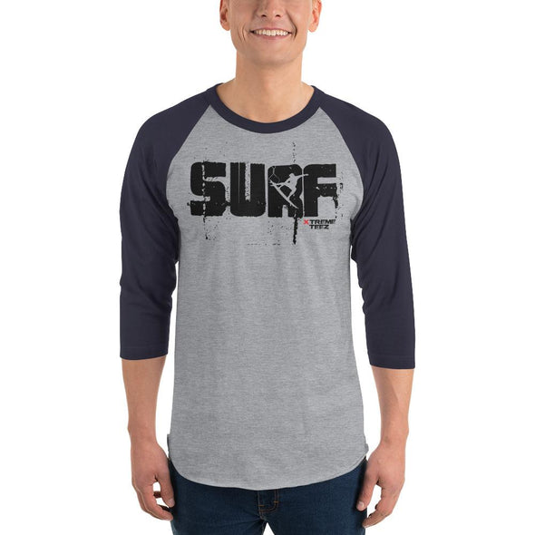 Surfing (SURF) Men's 3/4 Sleeved T-Shirt