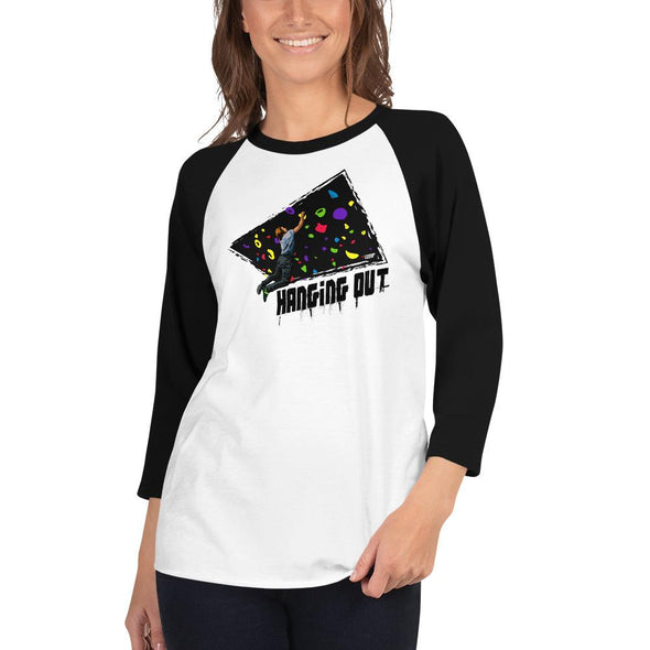 Rock Climbing (Hanging Out) Women's 3/4 Sleeved T-Shirt