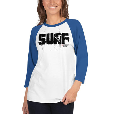 Surfing (SURF) Women's 3/4 Sleeved T-Shirt