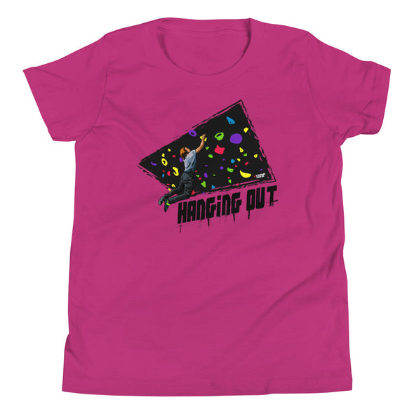 Rock Climbing (Hanging Out) Kids T-Shirt