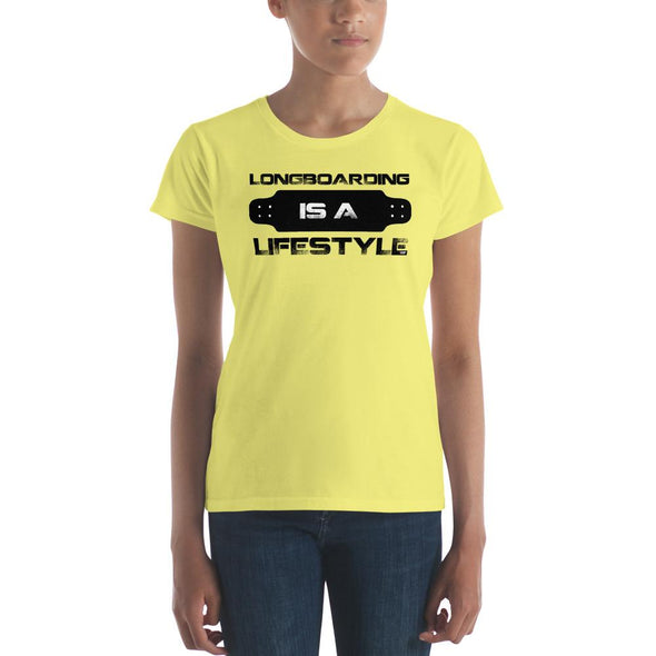 Longboarding (Lifestyle) Women's Slim-Fit T-Shirt