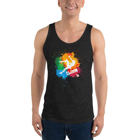 Rock Climbing (Paint Splatter) Men's Tank