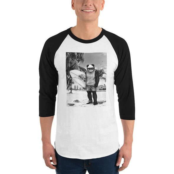 Johnny Xtreme (Surfing Retro) Men's 3/4 Sleeved T-Shirt - XtremeTeez
