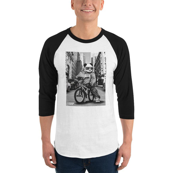 Johnny Xtreme (BMX Retro) Men's 3/4 Sleeved T-Shirt - XtremeTeez