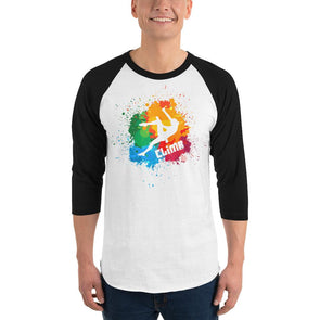 Rock Climbing (Paint Splatter) Men's 3/4 Sleeved T-Shirt
