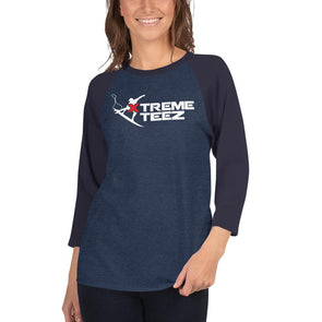 Xtreme Teez (Surfing) Women's 3/4 Sleeved T-Shirt