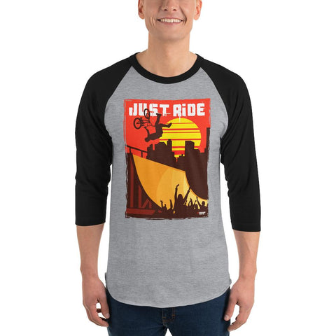 BMX (Just Ride) Men's 3/4 Sleeved T-Shirt