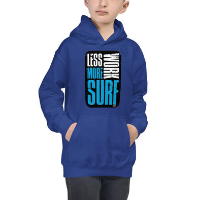 Surfing (Less Work, More Surf) Children's Hoodie
