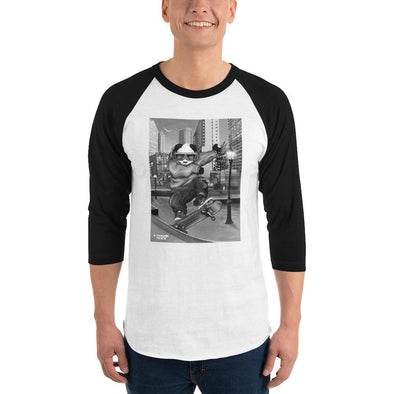 Johnny Xtreme (Skateboarding Retro) Men's 3/4 Sleeved T-Shirt - XtremeTeez