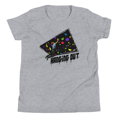 Rock Climbing (Hanging Out) Kids T-Shirt - XtremeTeez