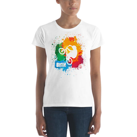 BMX (Paint Splatter) Women's Slim-Fit T-Shirt
