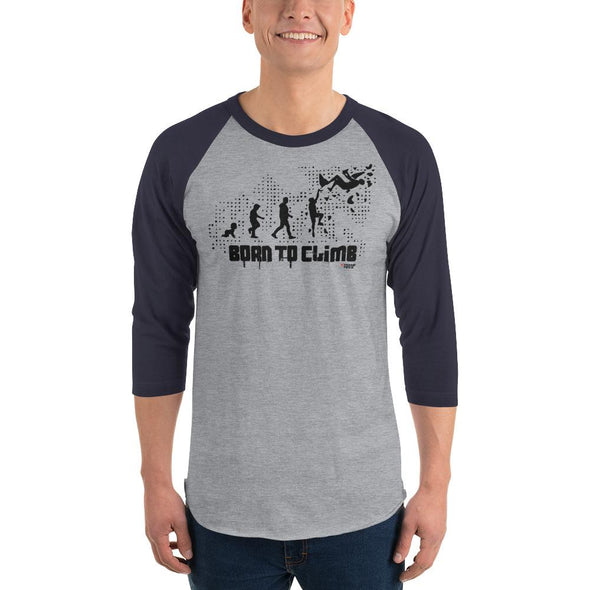 Rock Climbing (Born to Climb) Men's 3/4 Sleeved T-Shirt