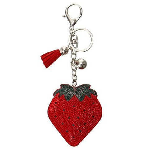 Crystal Red Strawberry Charm - Think Fanny