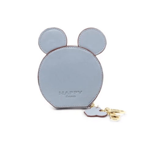 Blue Design Mickey Head Mini Wallets - Think Fanny