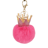 Pink Crown Puffy Ball Charm - Think Fanny