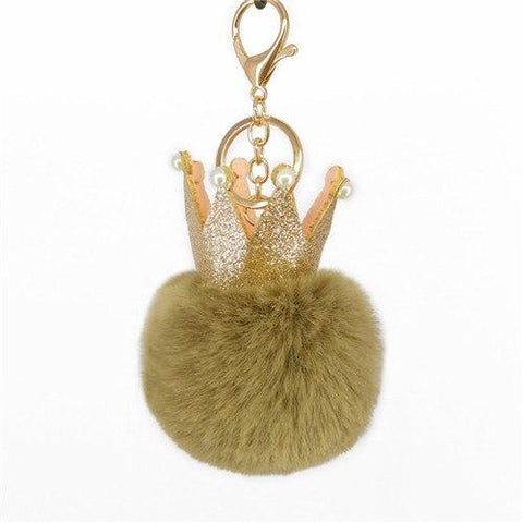 Brown Crown Puffy Ball Charm - Think Fanny