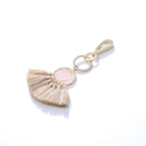 Pink Cotton Tassel Charm - Think Fanny