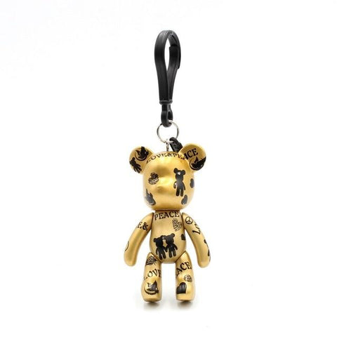 Gold Carton Teddy Handmade Charm - Think Fanny
