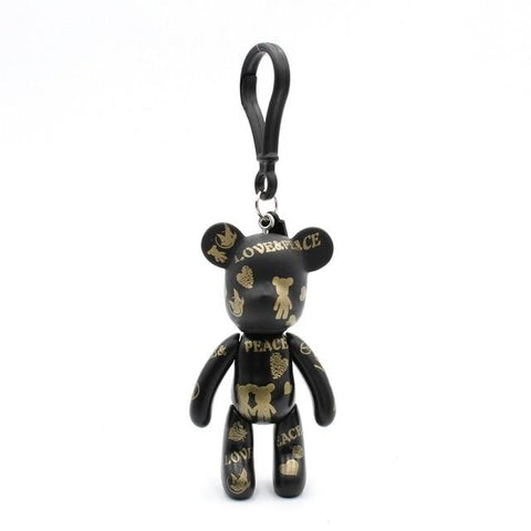 Peace & Love Carton Teddy Handmade Charm - Think Fanny