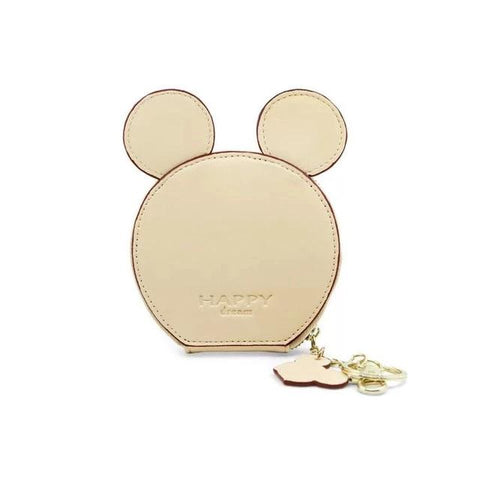 White Design Mickey Head Mini Wallets - Think Fanny