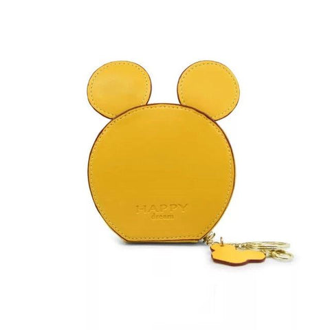Yellow Design Mickey Head Mini Wallets - Think Fanny