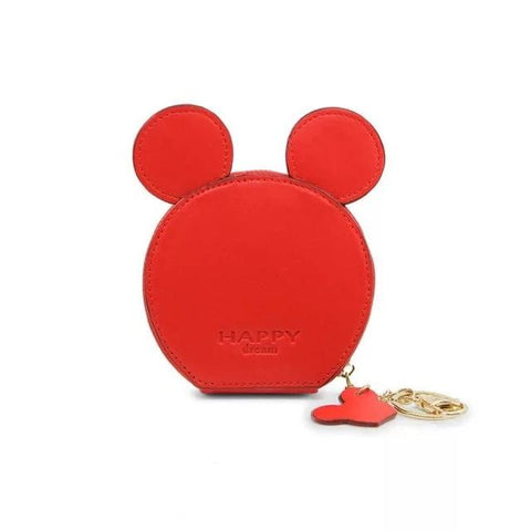 Red Design Mickey Head Mini Wallets - Think Fanny