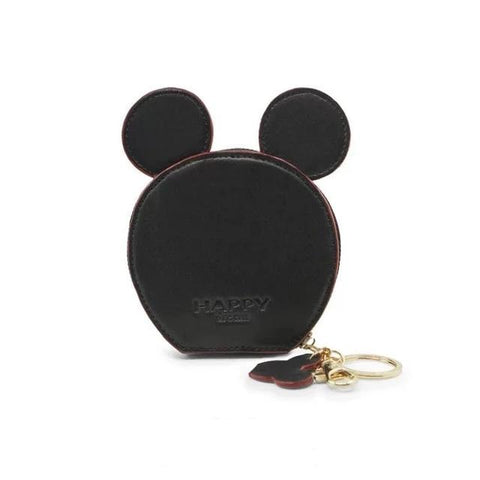 Black Design Mickey Head Mini Wallets - Think Fanny