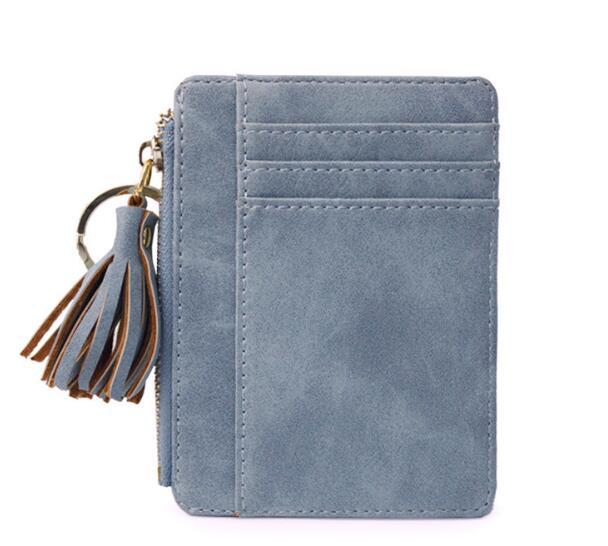 Blue Tassel Zipper Mini Wallets - Think Fanny