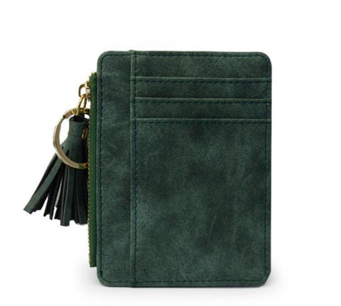 Green Tassel Zipper Mini Wallets - Think Fanny
