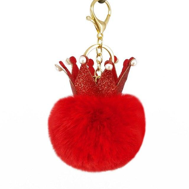 Red Crown Puffy Ball Charm - Think Fanny