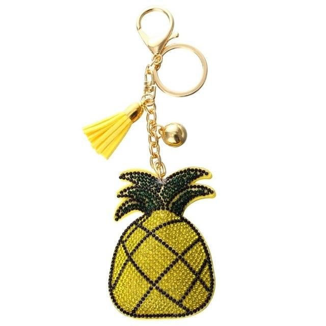 Crystal Yellow Pineapple Charm - Think Fanny