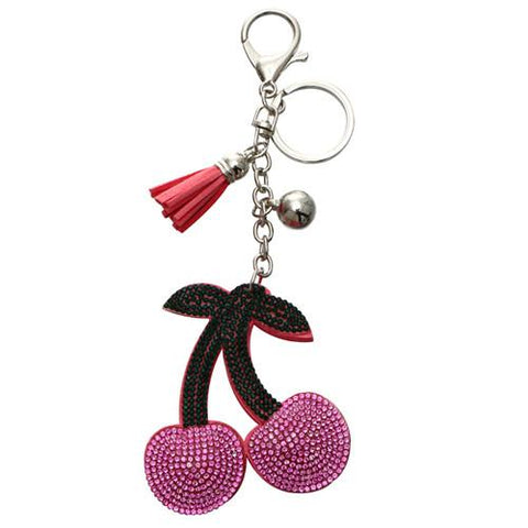 Crystal Pink Cherry Charm - Think Fanny