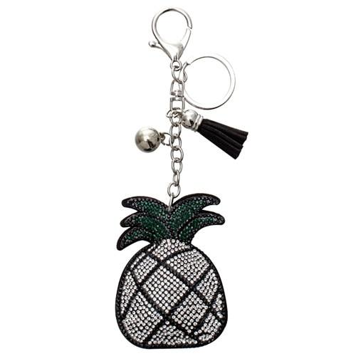 Crystal Silver Pineapple Charm - Think Fanny