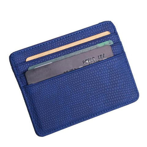 Blue Pattern Card Holder - Think Fanny
