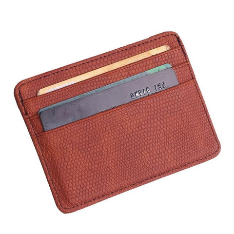 Brown Pattern Card Holder - Think Fanny