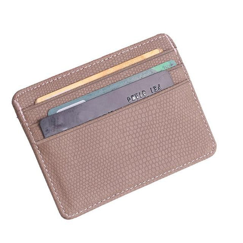 Khaki Pattern Card Holder - Think Fanny