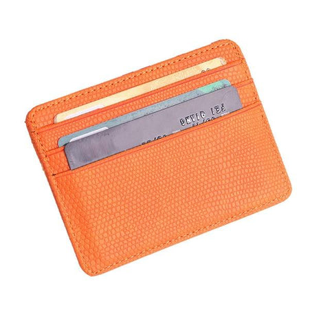 Orange Pattern Card Holder - Think Fanny