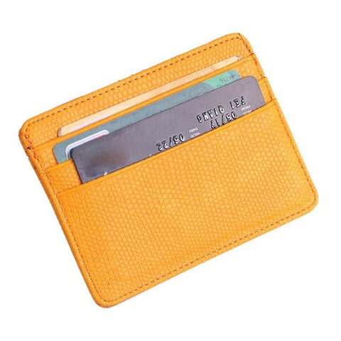 Yellow Pattern Card Holder - Think Fanny