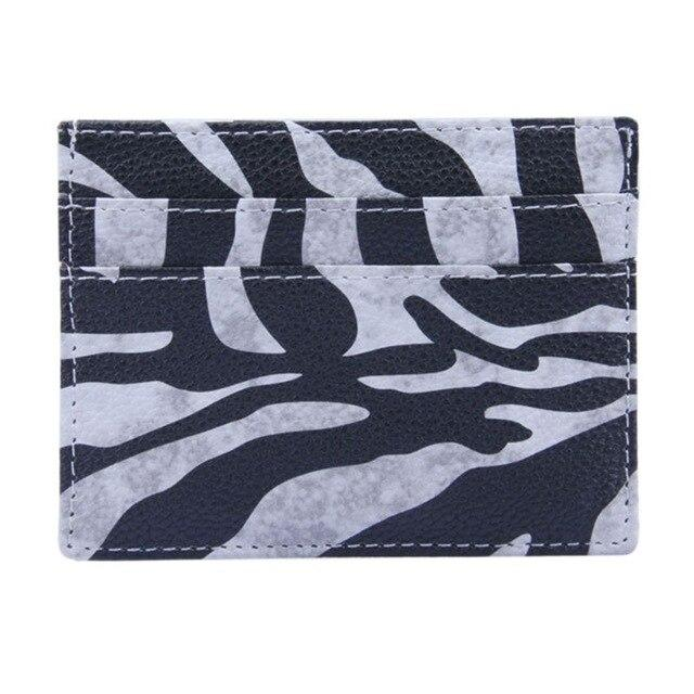 Zebra Wild Leather Card Holder - Think Fanny