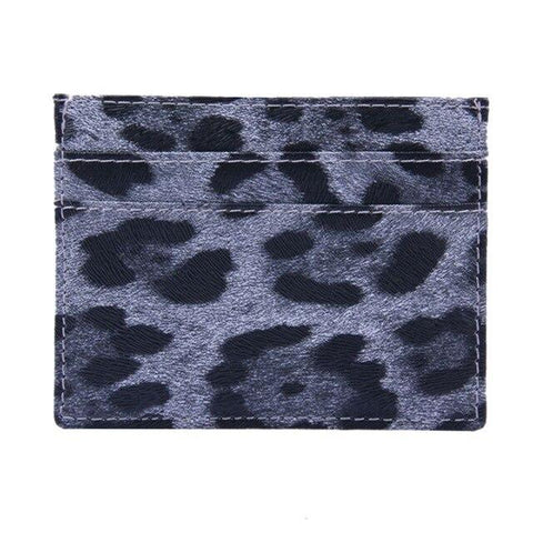 White Leopard Dots Card Holder - Think Fanny