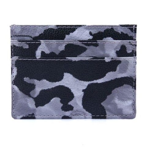 Dark Camouflage Card Holder - Think Fanny