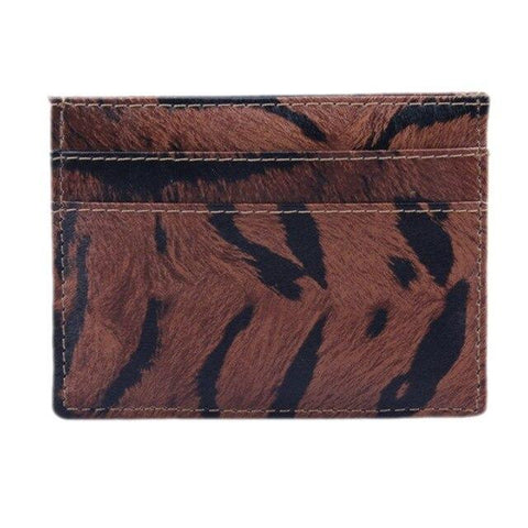 Brown Wild Leather Card Holder - Think Fanny