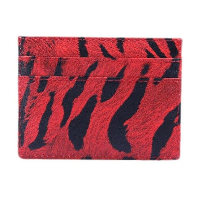Red Wild Leather Card Holder - Think Fanny