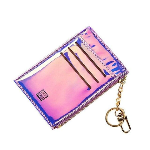 Purple Laser Slim Card Holder - Think Fanny