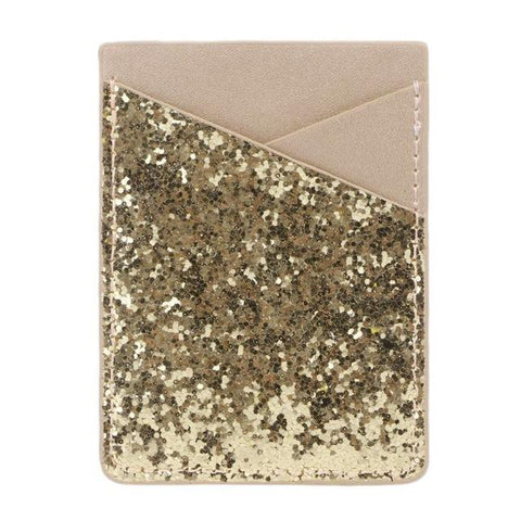 Gold Sequins Glitter Card Holder - Think Fanny
