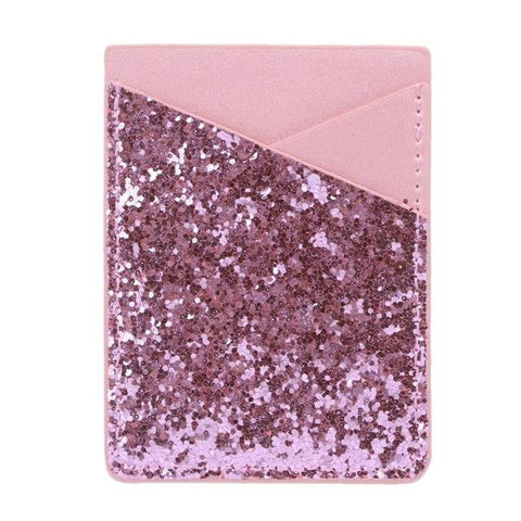 Pink Sequins Glitter Card Holder - Think Fanny