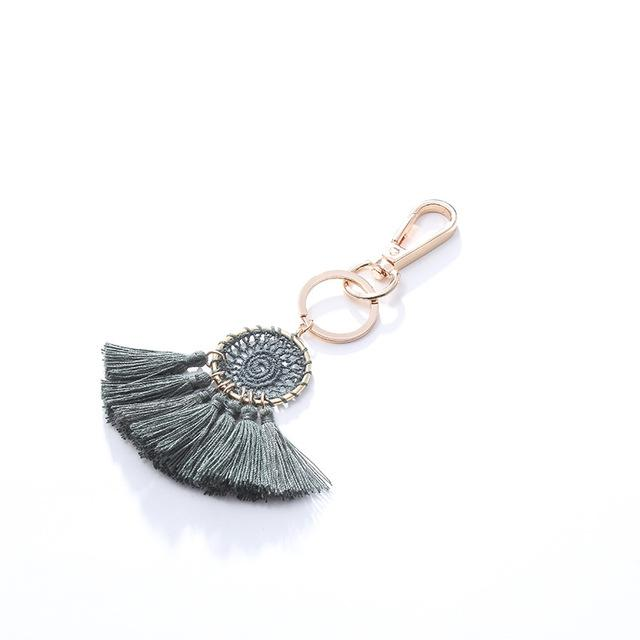 Green Cotton Tassel Charm - Think Fanny