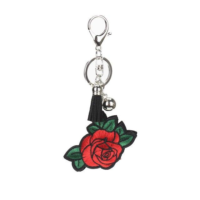 Red Rose Glitter Charm - Think Fanny