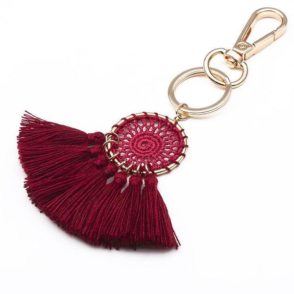 Red Cotton Tassel Charm - Think Fanny